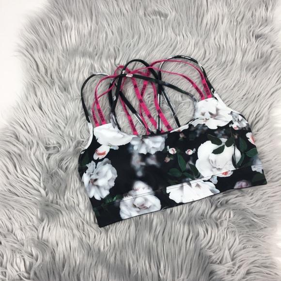 Victoria's Secret Other - Victoria Secret sports strappy bra floral size s